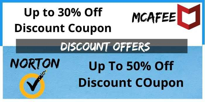 Norton & Mcafee Discount offer