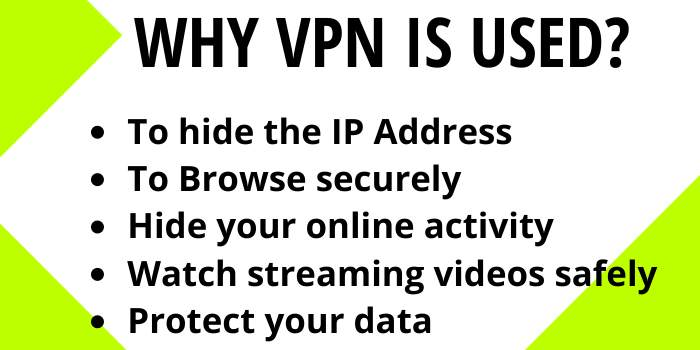 Why VPN is used?